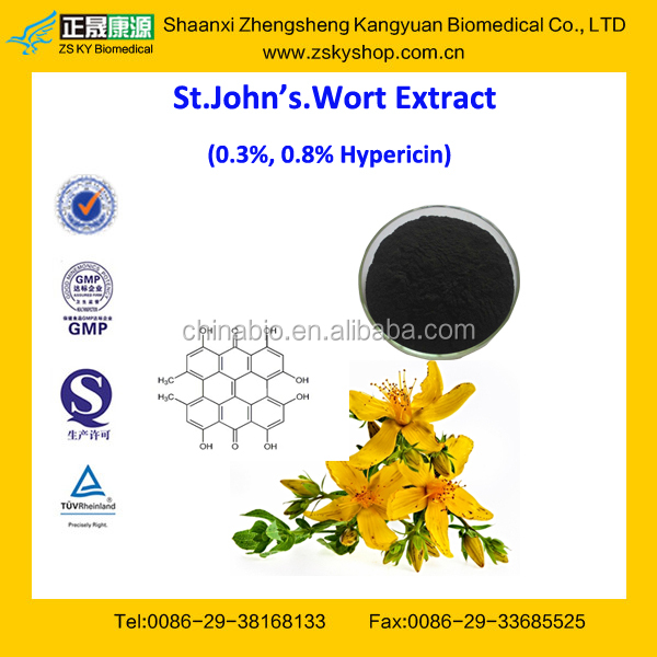 Hot Sale GMP Certified St.john's Wort Extract/Hypericum Perforatum Extract