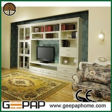 2015 Chian new product white and brown tv cabinet french wholesale