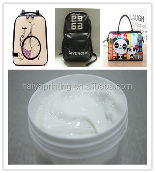 anti-stick screen printing water based paint manufactures for various bag