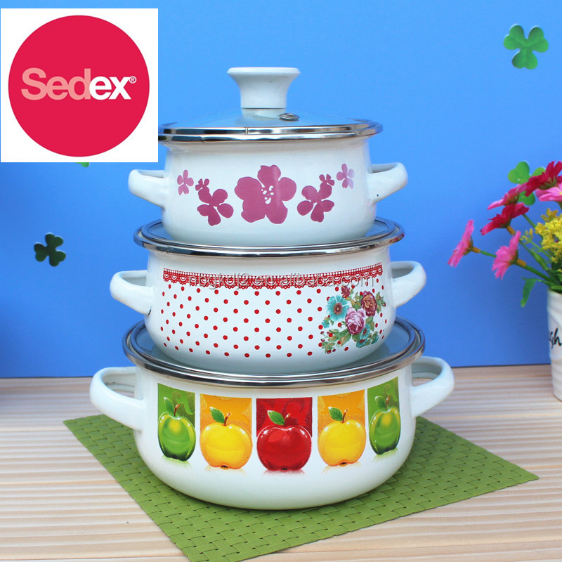 enamel olla pot with good quality for promotion or gift casserole sets