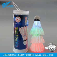 Flashing lighted high quality durable colorful badminton led shuttlecock
