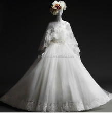 2015 Real sample suzhou factory directly ball gown lace wedding dress #OW399