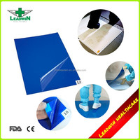 PE film disposable anti-microbial cleanroom sticky mat for hospital