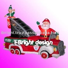 christmas inflatable fire truck