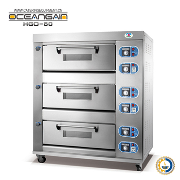 HGO-60 Gas Baking Oven (3-deck 6-tray)