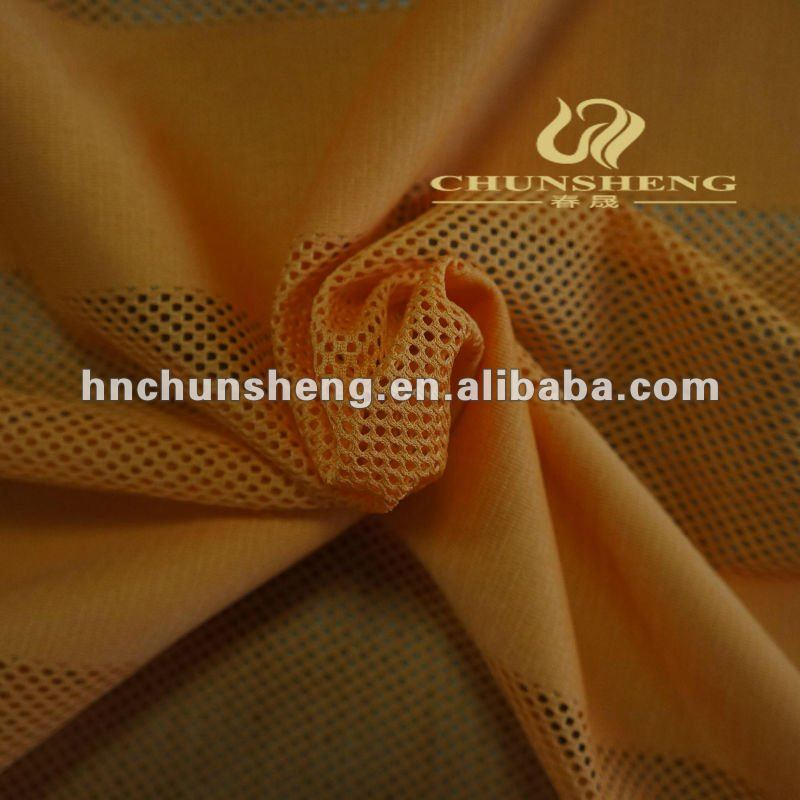 100% polyester tricot plain fabric with mesh fabric material for clothing,sofa,car