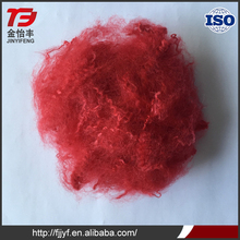 Recycled red color 32mm spinning yarn use polyester staple fiber