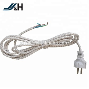 EU Cordset With Lamp Holder E14 Lamp Cord H03RT-H Power Cord