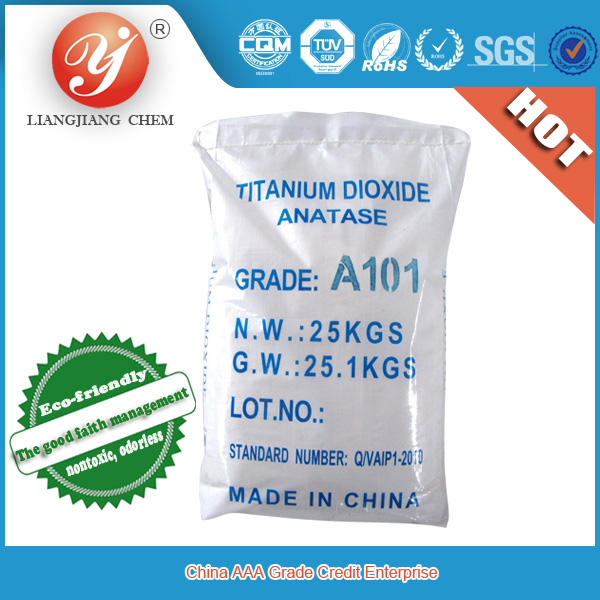 hot sale titanium dioxide anatase grade TiO2 A101,titanium dioxide for polyester, TiO2 for paint, ink, plastic