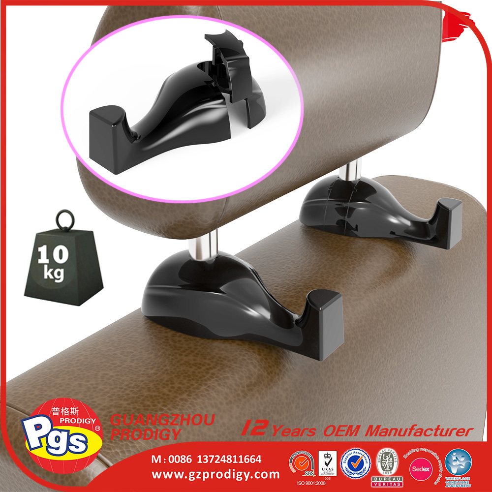 strong loading plastic hook,car seat headrest plastic hanger hook