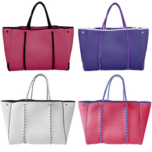 Factory OEM Personalized Fashion Heavy Duty Neoprene Shopping Tote Bag For Women