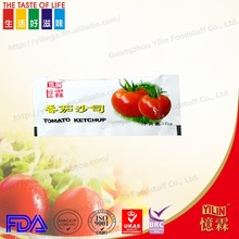Hot Sell Sachet red Tomato sauce 10g Factory Price