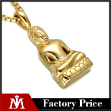 Unique Stainless Steel Carved Buddha Lucky Amulet Pendant Necklace For Women Men Sakyamuni Buddha Necklace Pendants Jewelry