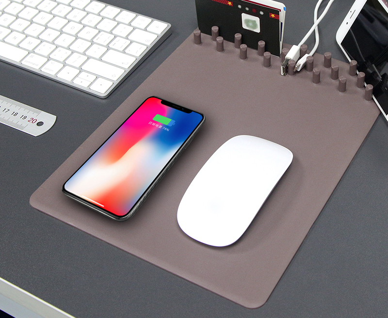 New Release Ultrathin Wireless Charger Wireless Charger Storage Mouse Pad