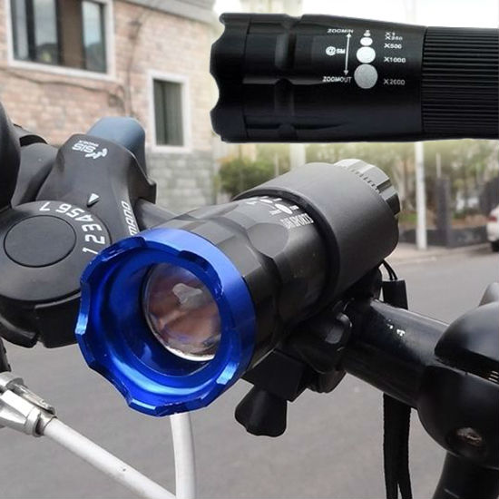 New High Quality Mountain Bike Bicycle Alu Aluminium Metal LED Bright Rechargable Head Light Lamp