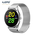 BT4.0LE smart watch exercise heart rate monitor K88 CE FCC slim watch body milanese stainless steel strap