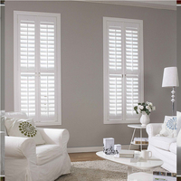 Interior Plantation Style Basswood PVC Wooden Window Blinds Shutters