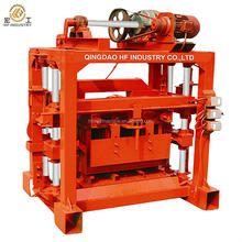 Manual operated manual concrete block making machine QT4-40 used hollow cement block machine for sale