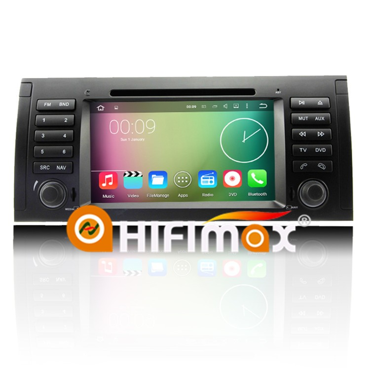 Car pc android e39 For bmw/car dvd gps android 5 series/car touchscreen Android 5.1.1 OS,bluetooth,DVD,Quad-core