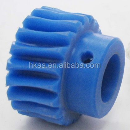 white small toy plastic worm gear nylon gear china supplier