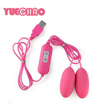 USB Charging Sex Toys Vagina Anal Dual Double Eggs Bullet Vibrator