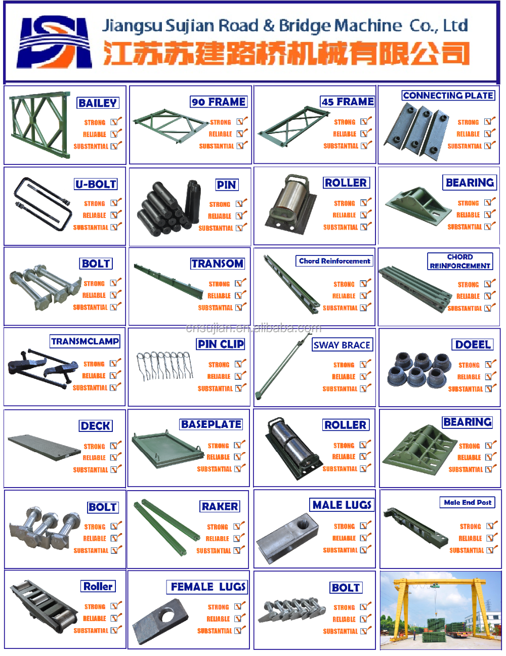 Steel Structure Bailey Bridge components/Bailey Bridge parts