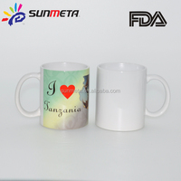 Sunmeta factory supply sublimation photo mug 11oz blank white ceramic sublimation mug
