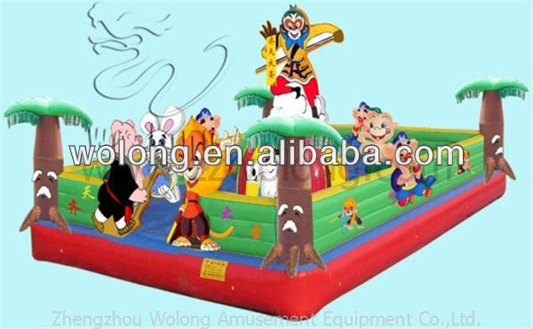 Cartoon inflatable trampoline, air bouncer