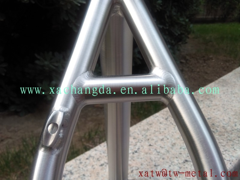 "titanium mtb bicycle frame with post mout brake titanium 16"" mtb bike frame 26er"