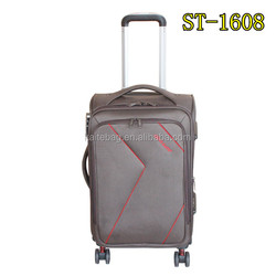 2016 baoding shengyakaite factory new design soft trolley luggage