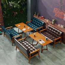 new style cheap restaurant booths solid wood leather dining sofa for sale R1737
