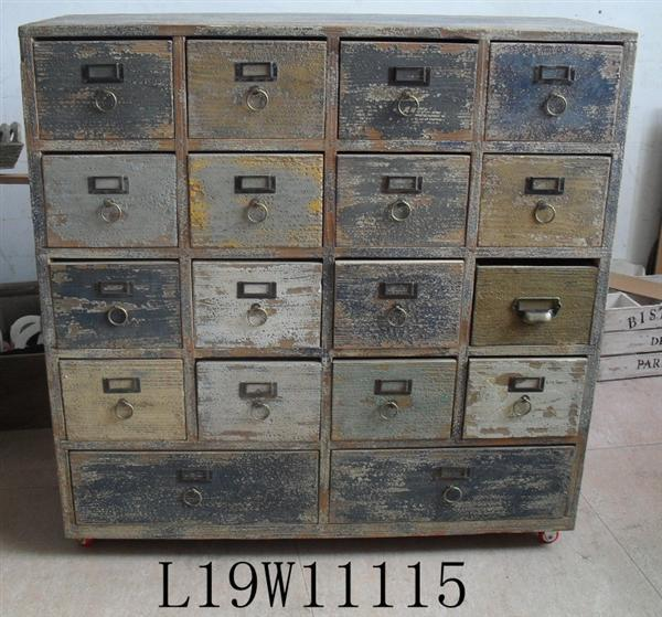 reclaimed Antique wooden chest of drawers