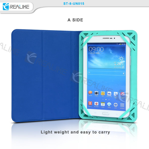 "7-10"" Flip universal pu leather tablet case silicon elasti band cover for Apple iPad"