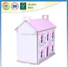 With some furniture and dolls wooden house,christmas kids