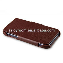 For black fake leather for iphone 5 case ,Real leather case for iphone 5