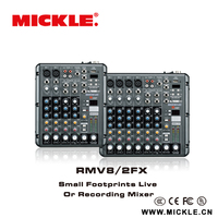 MICKLE 8 channel professional MP3 player mixer audio RMV6/2FX(USB)