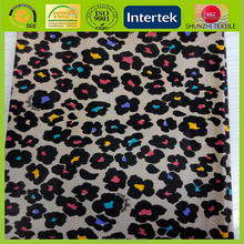 new Leopard print pongee fabric / Silk pongee fabric / Colour print pongee fabric