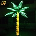Holiday decorative green and yellow LED lighted palm tree