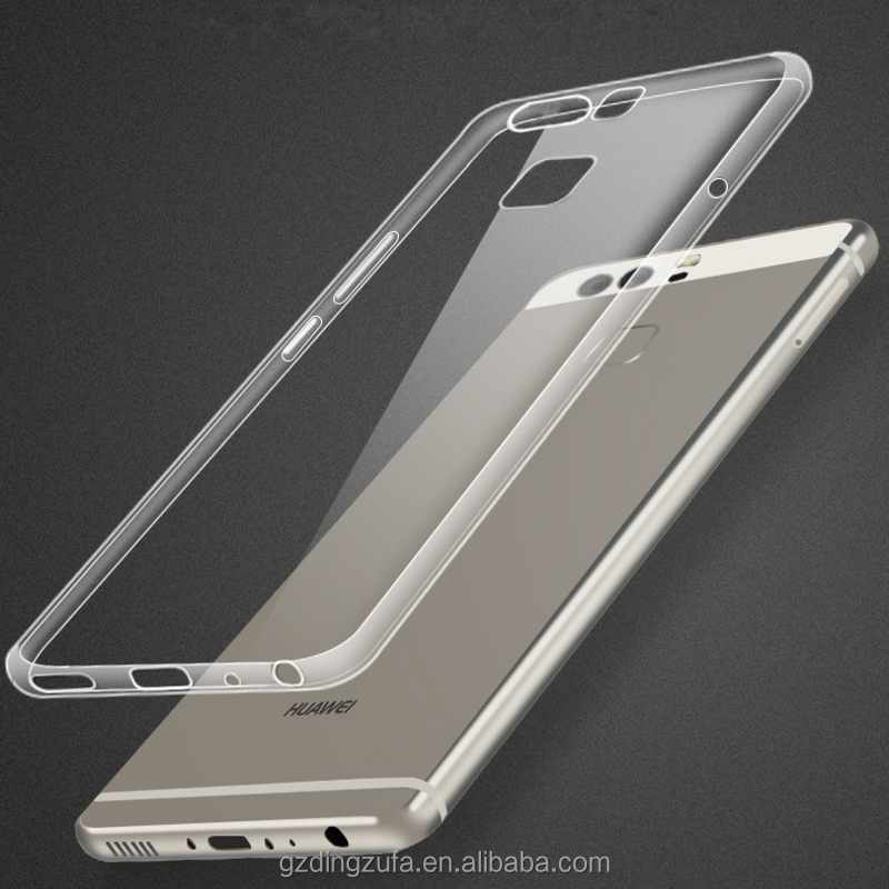 New Hot sell soft Transparent think TPU Phone back cover Case for Huawei P10