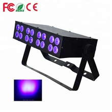 UV Bar Lights 16*3w DMX Blacklite Ultraviolet Lamps Blacklight LED UV Black Light