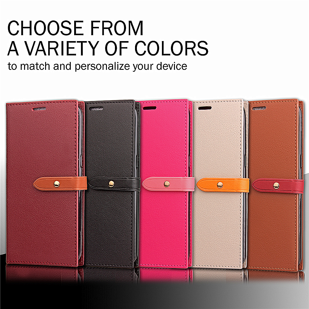 New Product Mobile Phone Accessories Flip Cover PU Leather Case for Samsung J5 (2017)