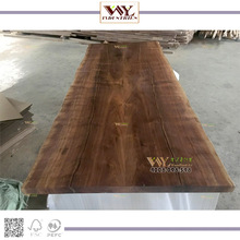 made in Shanghai USA black walnut dinner slab table