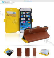 2015 hot selling cheap price leather for iphone 6 case ultra thin ,strong magnetic wallet for iphone6
