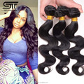 100% Peruvian Body Wave Unprocessed Peruvian Human Hair Extensions Natural Black