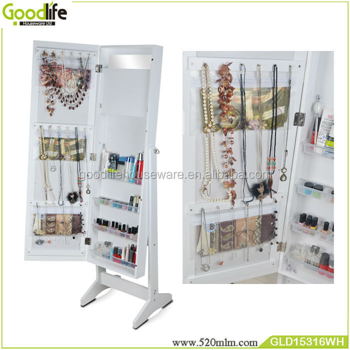 GLD15316mirror jewelry armoire
