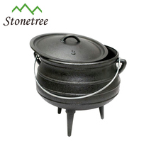 Outdoor South Africa 3 legged Pots Cauldron / Mini Cast Iron Potjie Pot