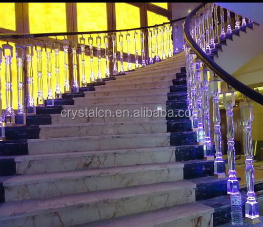 Decorative Crystal Glass Baluster For Interior Stair