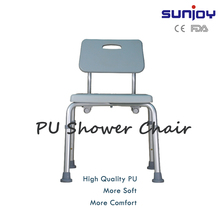 Adjustable non slip bath stool shower chair for disabled