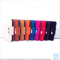 2013 Best Selling Wallet Card-slot Pu Leather Cell Mobile Phone for iPhone 5 5S Case P-IPH5CASE124