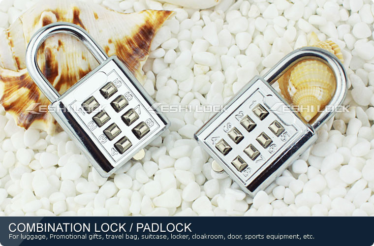 Security Blind Lock, Travel Luggage Push Button Lock